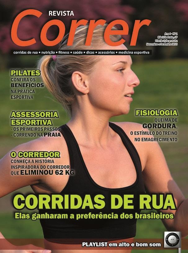 Revista Correr 1 - Capa Corridas de Rua