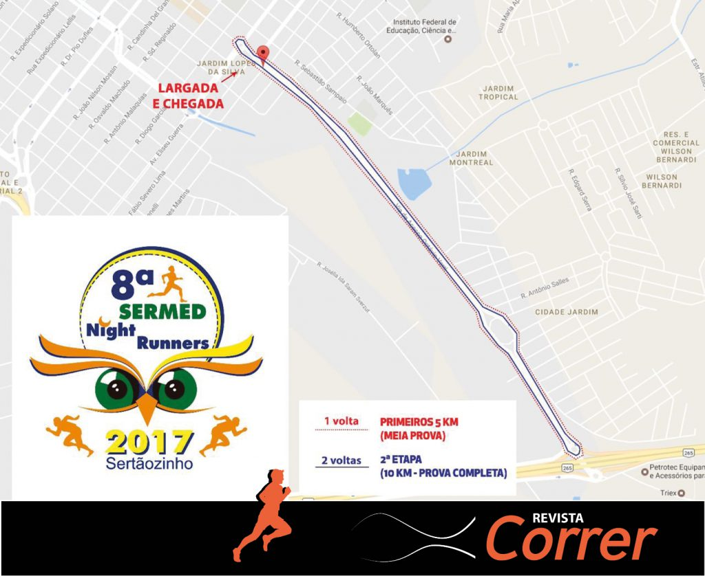 Percurso Novo - Corrida Sermed 2017 - Revista Correr