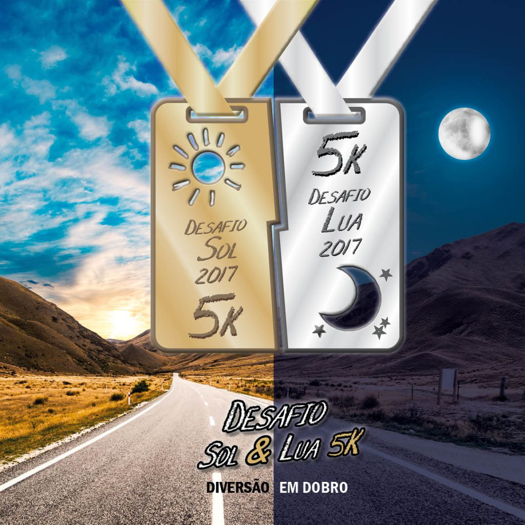 Medalha Corrida Desafio Sol e Lua 5k Ribeirão Preto - Revista Correr