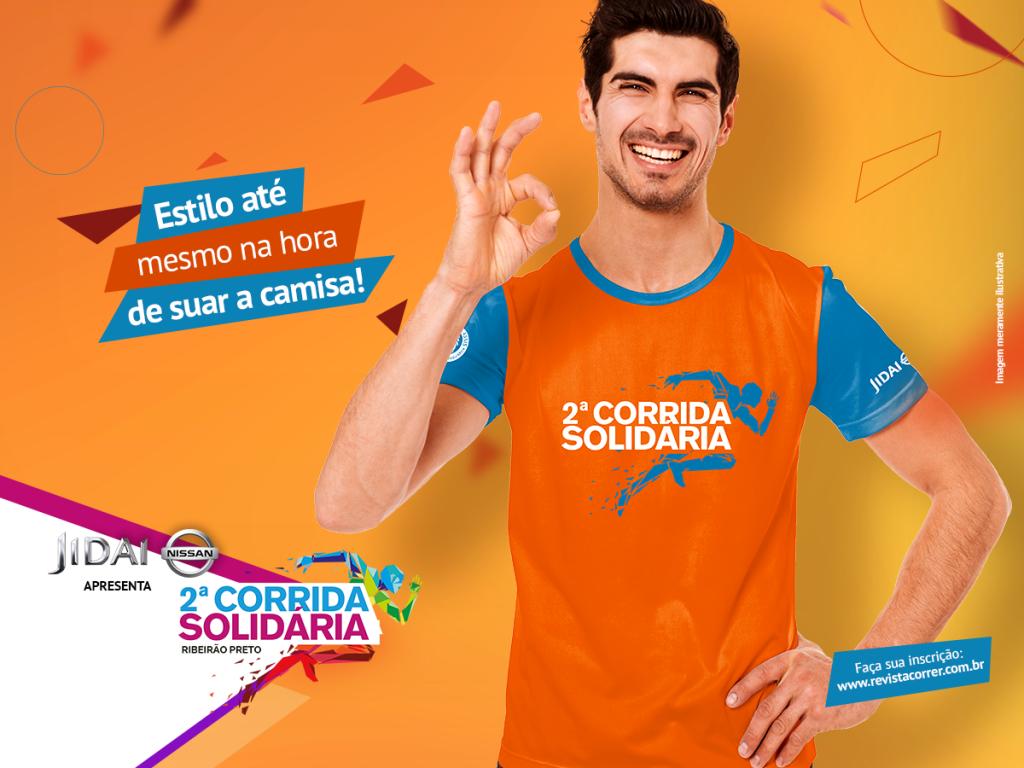 Camiseta KIT Corrida Solidaria Ribeirao Preto - Revista Correr - Jidai Nissan